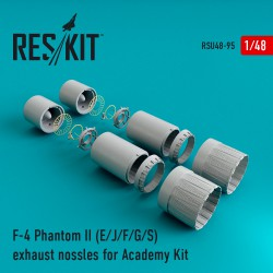 F-4 Phantom II (E/J/F/G/S) exhaust nossles for Academy Kit (1/48)
