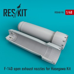F-14 (D) open exhaust nozzles for Hasegawa Kit  (1/48)