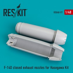 F-14 (D) closed exhaust nozzles for Hasegawa Kit    (1/48)