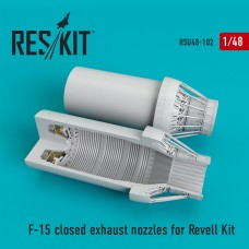 F-15 closed exhaust nozzles for Revell Kit (1/48)