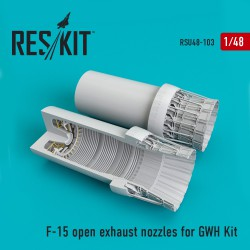 F-15 open exhaust nozzles  for GWH Kit (1/48)