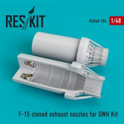 F-15 closed exhaust nozzles  for  GWH Kit (1/48)