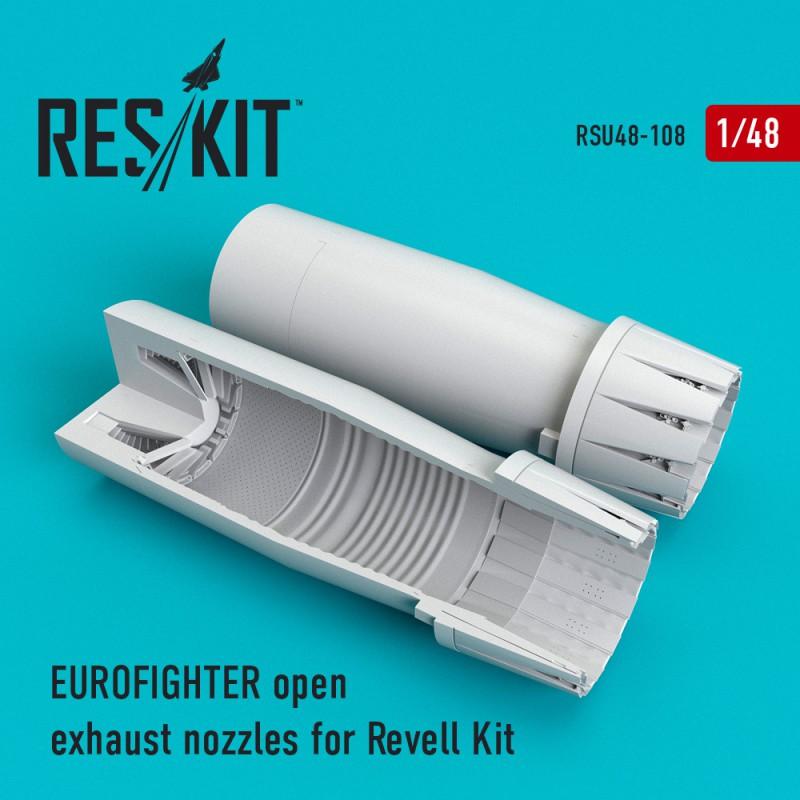 Eurofighter open exhaust nozzles for Revell Kit (1/48)
