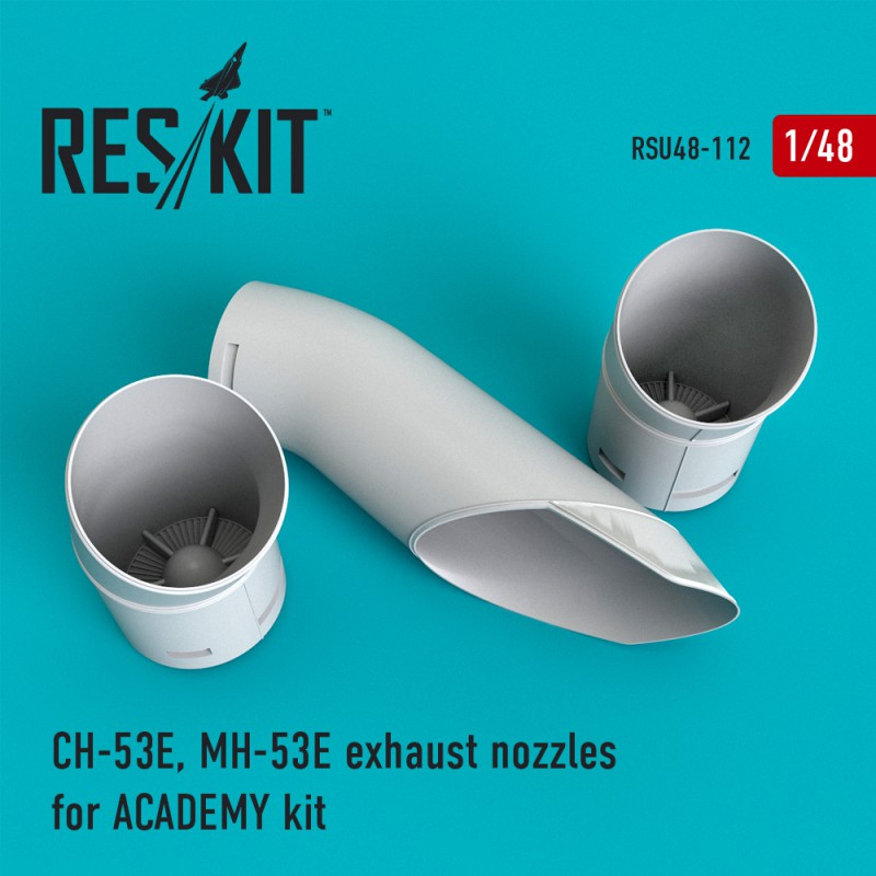 CH-53E, MH-53E exhaust nozzles for ACADEMY kit (1/48)