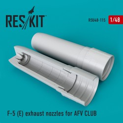 F-5E exhaust nozzles for AFV CLUB (1/48)