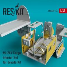 Mi-24 (V) Cargo interior Set for Zvezda Kit (1/48)