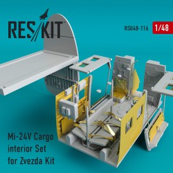 Mi-24 (V) Cargo interior Set for Zvezda Kit (1/48)