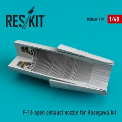 F-16  (F100-PW) open exhaust nozzle for Hasegawa kit (1/48)