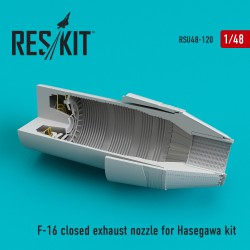 F-16 (F100-PW) closed exhaust nozzle for Hasegawa kit (1/48)