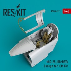 MiG-25 (RB/RBT) Cockpit for ICM Kit (1/48)