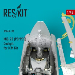 MiG-25 (PD/PDS) Cockpit for ICM Kit (1/48)