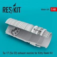 Su-17 (Su-22) exhaust nozzles for Kitty Hawk Kit (1/48)