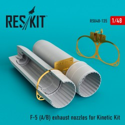 F-5 A/B exhaust nozzles for Kinetic Kit (1/48)