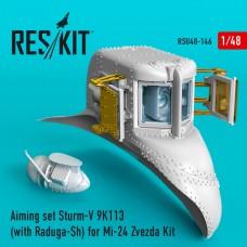 Aiming set Sturm-V 9K113 (with Raduga-Sh) for Mi-24 Zvezda Kit (1/48)