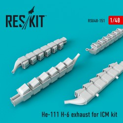 He-111 H-6 exhaust nozzles for ICM (1/48)