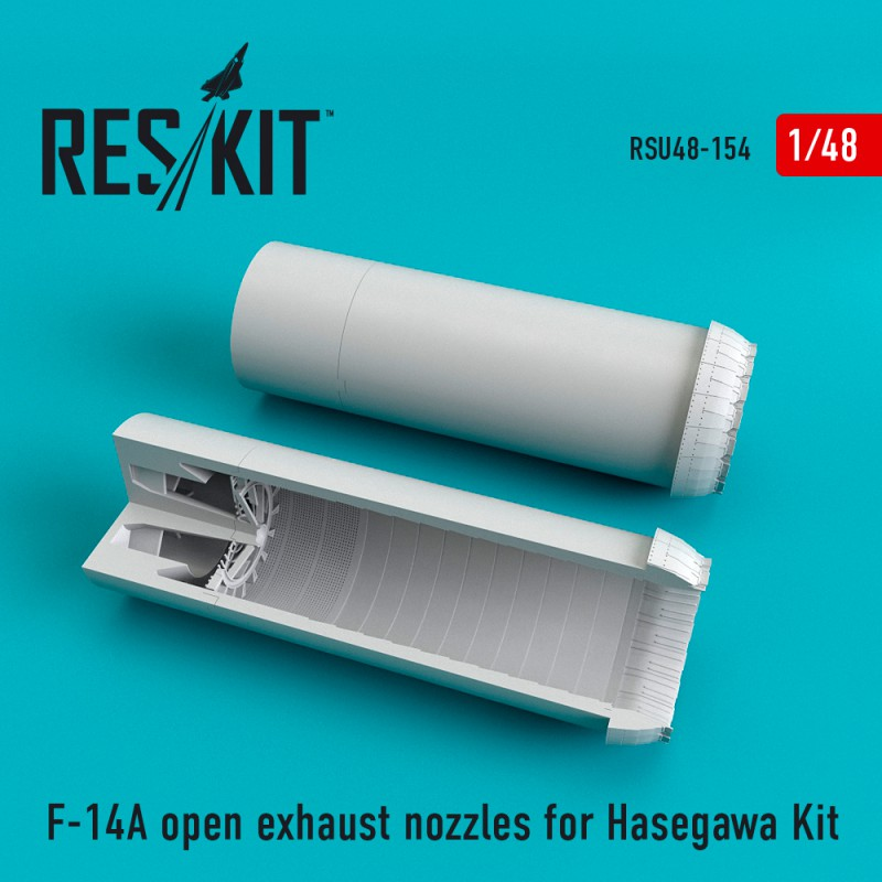 F-14A open exhaust nozzles for Hasegawa Kit (1/48)