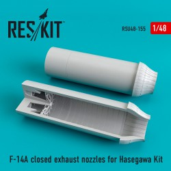 F-14A closed exhaust nozzles for Hasegawa Kit (1/48)