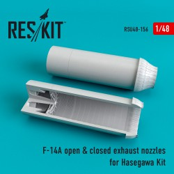 F-14A open & closed exhaust nozzles for Hasegawa Kit (1/48)