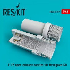 F-15 open exhaust nozzles  for Hasegawa Kit (1/48)