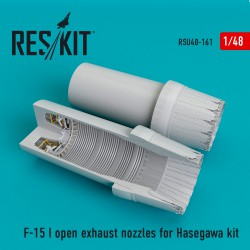 F-15 (I) open exhaust nozzles for Hasegawa Kit (1/48)