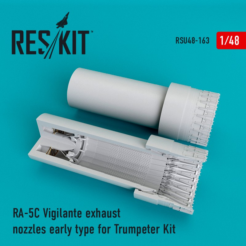 RA-5C Vigilante exhaust nozzles early type for Trumpeter Kit (1/48)