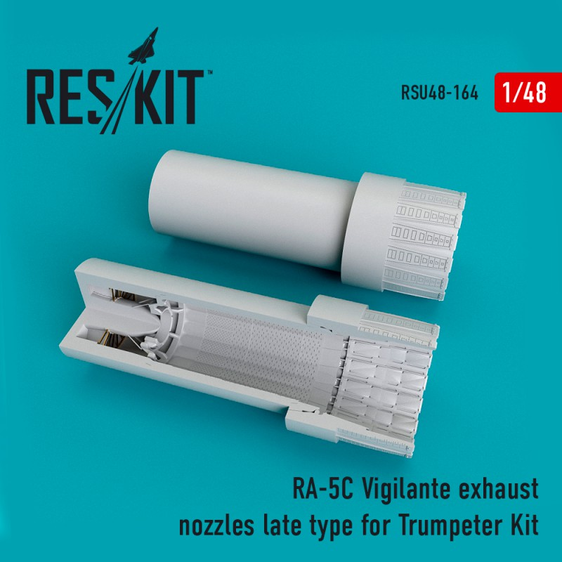 RA-5C Vigilante exhaust nozzles late type for Trumpeter Kit (1/48)