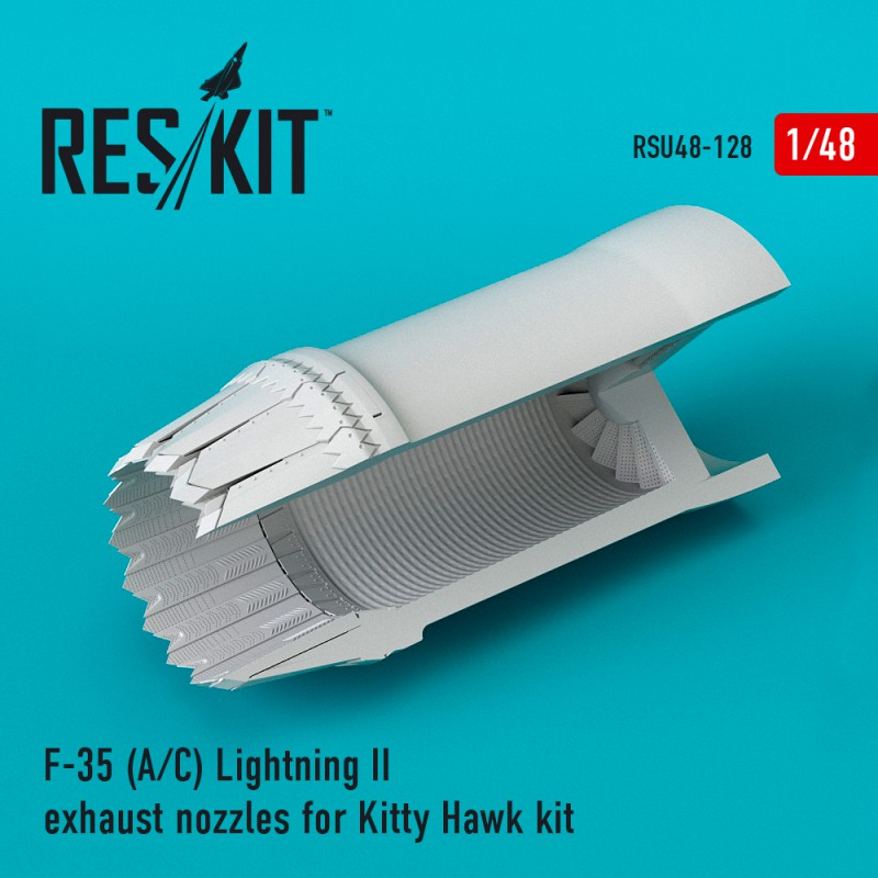 F-35 (A/С) Lightning II exhaust nozzles for Kitty Hawk Kit (1/48)