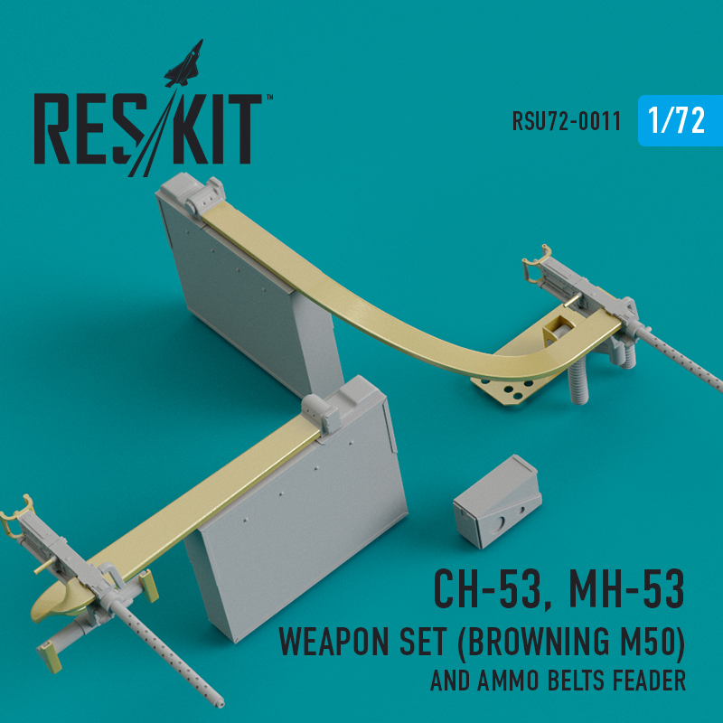CH-53, MH-53 Weapon Set (Browning M50) and Ammo belts feader (1/72)