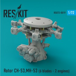 Rotor CH-53, MH-53, HH-53 (Pave Low III, GA,GS,G, Sea Stallion) (6 blades - 2 engines) (1/72)