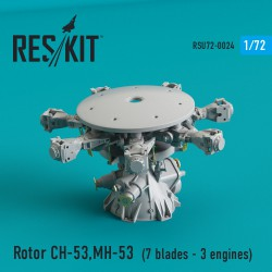 Rotor CH-53 Super Stallion, MH-53E Sea dragon (7 blades - 3 engines)(1/72)