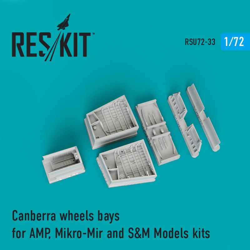 Canberra wheels bays for AMP, Mikro-Mir and S&M Models kits (1/72)