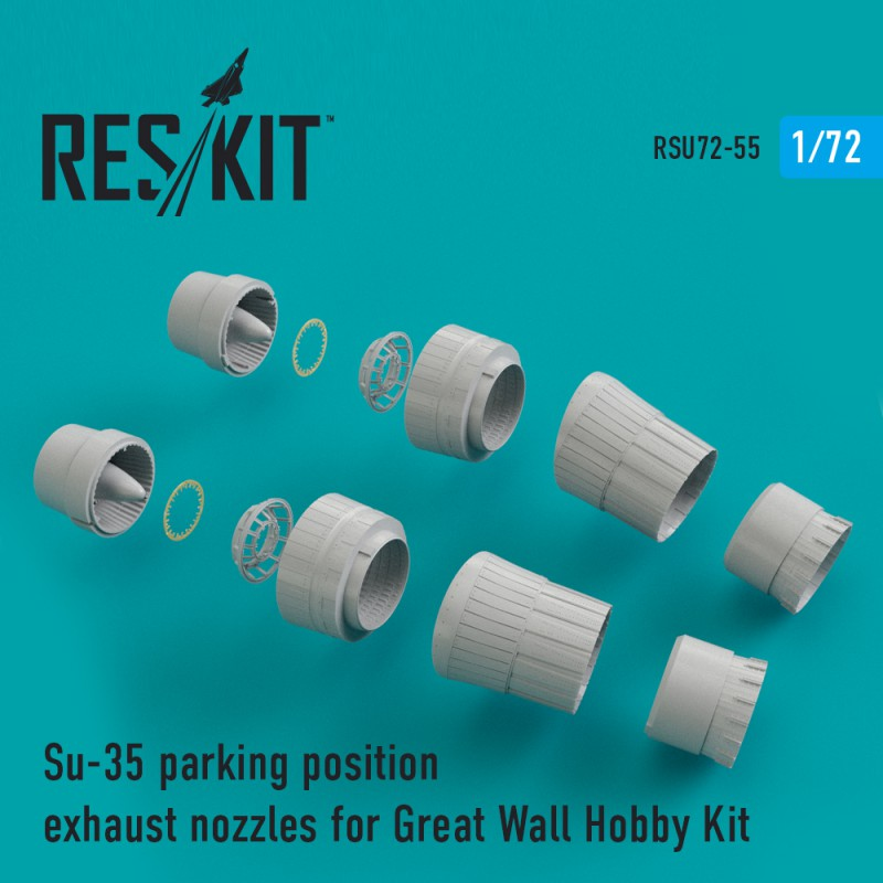 Su-35 parking position exhaust nozzles for Great Wall Hobby Kit (1/72)