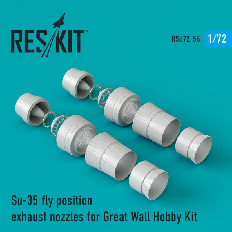 Su-35 fly position exhaust nozzles for Great Wall Hobby Kit (1/72)