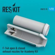 F-14A open & closed сопла для набора Academy Kit (1/72)