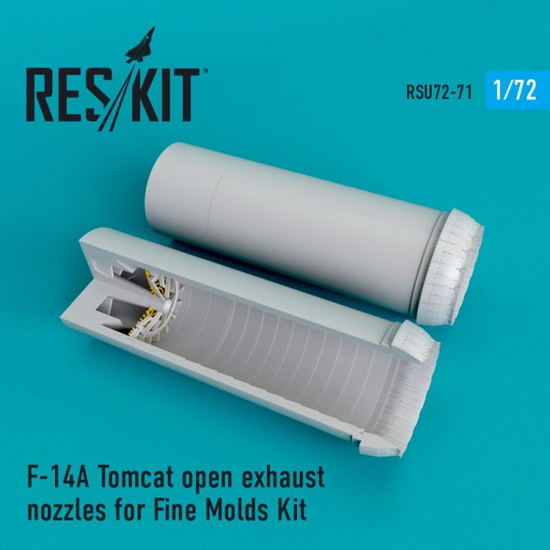 F-14A Tomcat open  сопла для набора Fine Molds (1/72)