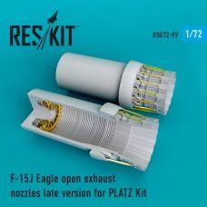 F-15J Eagle open сопла для набора PLATZ (1/72)