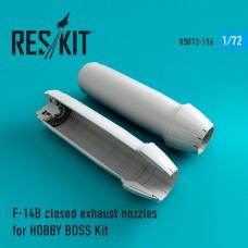 F-14 (B\D) closed сопла для набора HOBBY BOSS Kit (1/72)