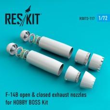 F-14 (B\D) open & closed сопла для набора HOBBY BOSS Kit (1/72)