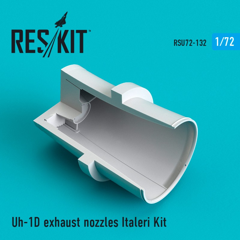 UH-1D Huey exhaust nozzles for Italeri Kit (1/72)