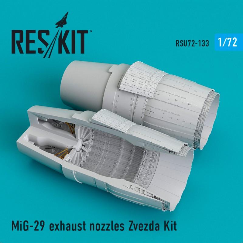 MiG-29 exhaust nozzles for Zvezda Kit (1/72)