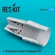 J-10 exhaust nozzles Trumpeter Kit (1/72)