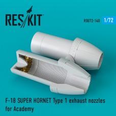 F-18 Super Hornet Type 1 сопла для набора Academy  (1/72)
