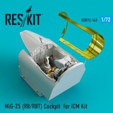 MiG-25 (RB/RBT) Cockpit for ICM Kit (1/72)