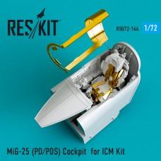 MiG-25 (PD/PDS) Cockpit for ICM Kit (1/72)