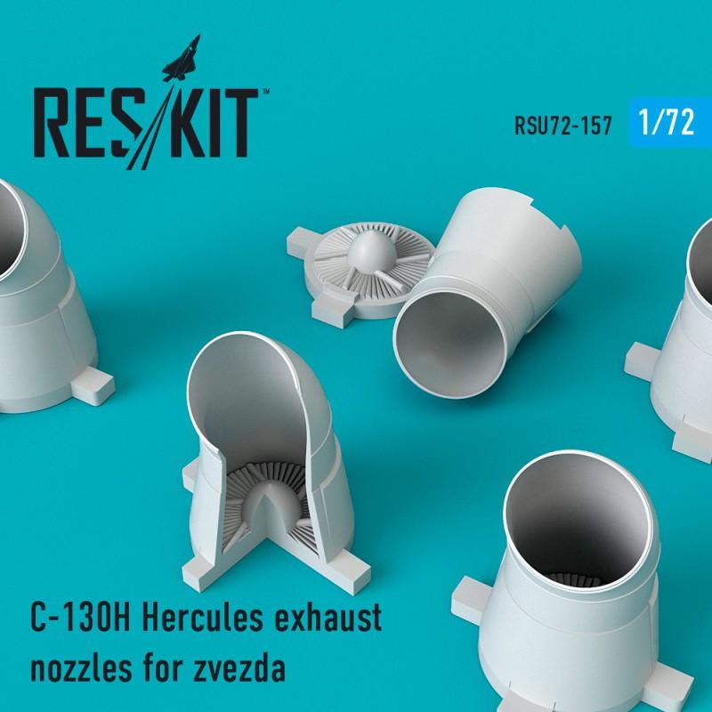 C-130H Hercules exhaust nozzles for Zvezda Kit (1/72)