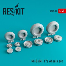 Mi-8 (Mi-17) wheels set 1/48