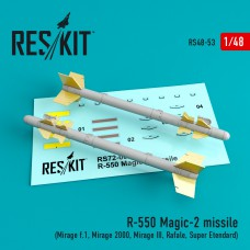 R-550 Magic-2 missile (4 штуки) 1/48